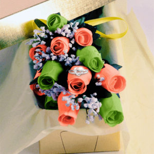 GreenAndCoral_WaxRoses