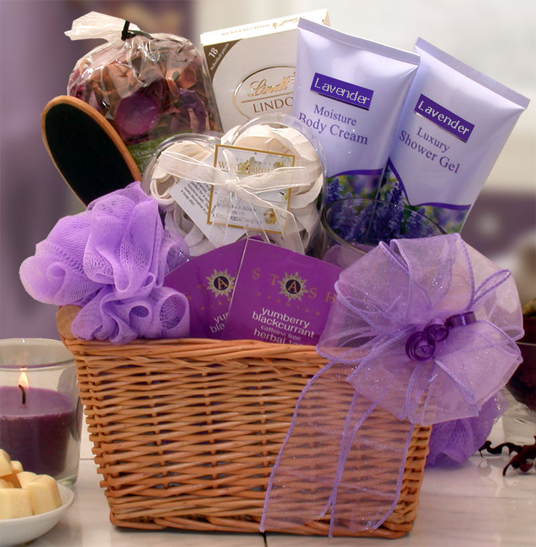 Lavender Relaxation Spa Gift Basket Extra Special Baskets